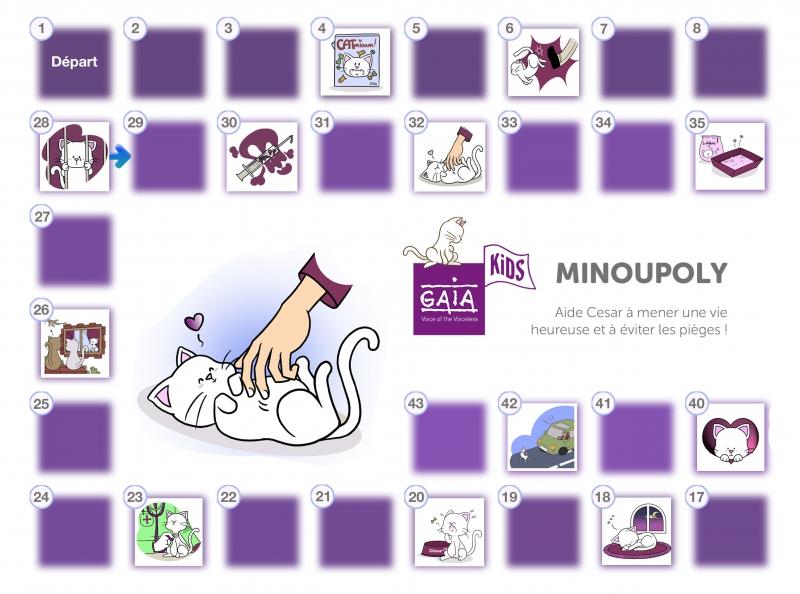 Minoupoly, un jeu éducatif de GAIA