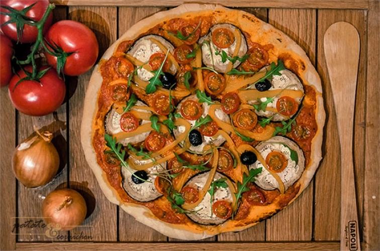 Une pizza 100% végétale !
