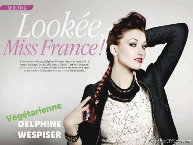 DELPHINE WESPISER (Miss France 2012) est végétarienne